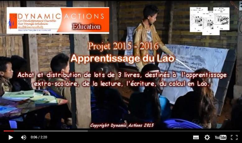 Photo montage livre apprentissage Lao