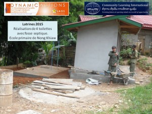 Photo 1 réalisation latrines 2015