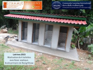 Photo 3 réalisation latrines LAOS 2015